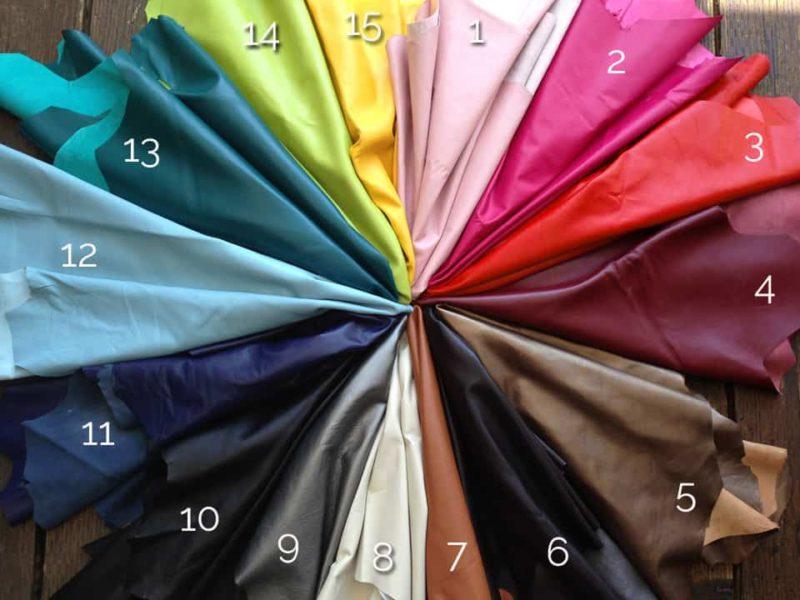 California Collar Co. Lambskin Color Chart