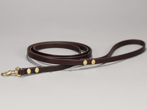 toy basic leather leash 001