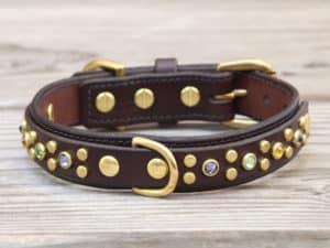 1 artemis dlx leather dog collar