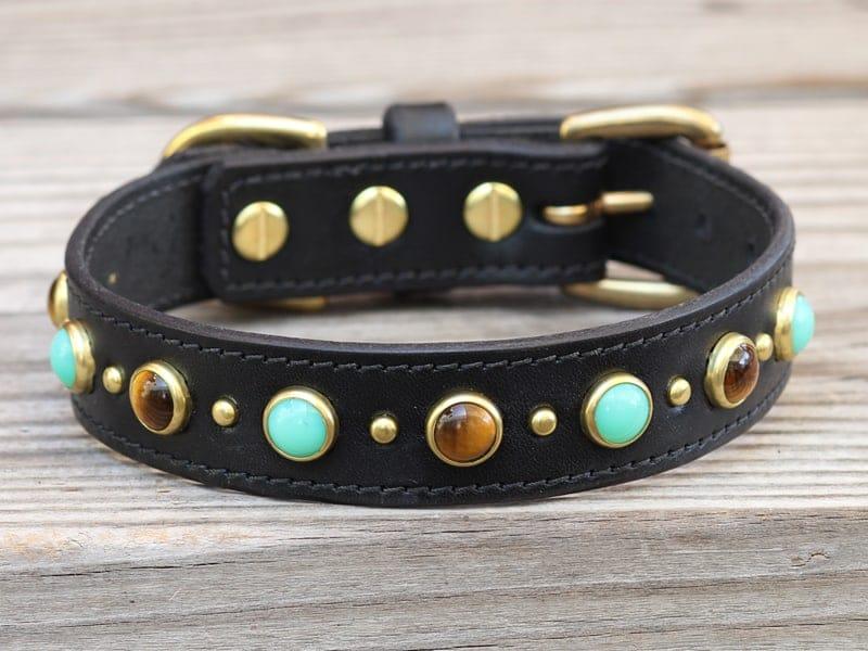 1 diego leather dog collar 090415