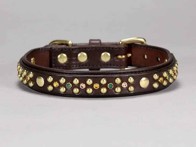 1 hollywood custom leather dog collar