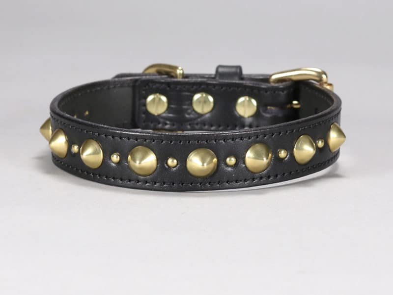 hooligan custom leather dog collar