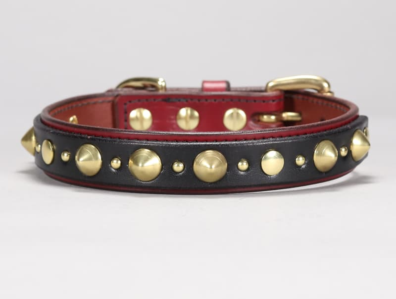 hooligan custom leather dog collar