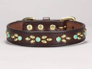 1 isabella custom leather dog collar