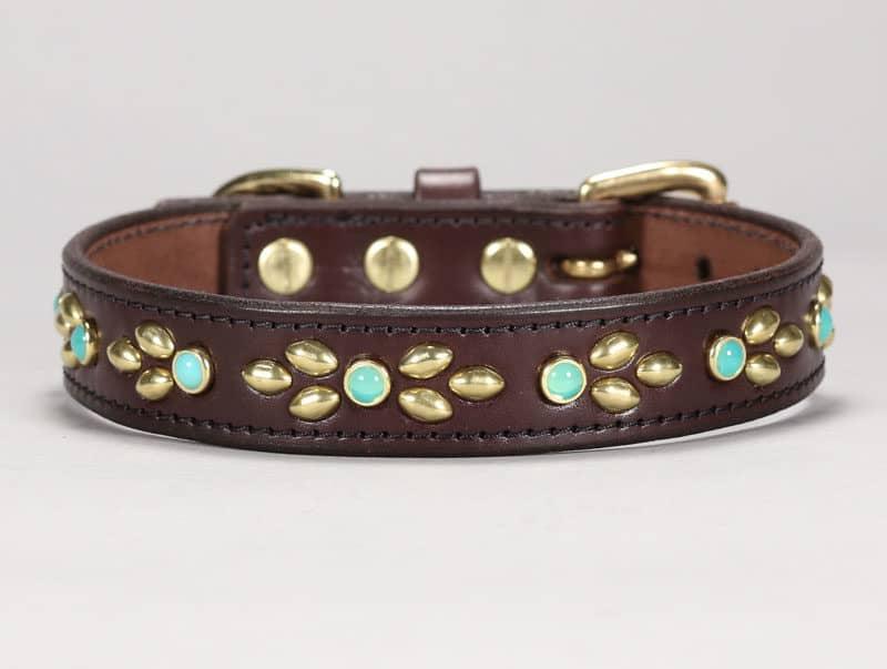 1 isabella custom leather dog collar