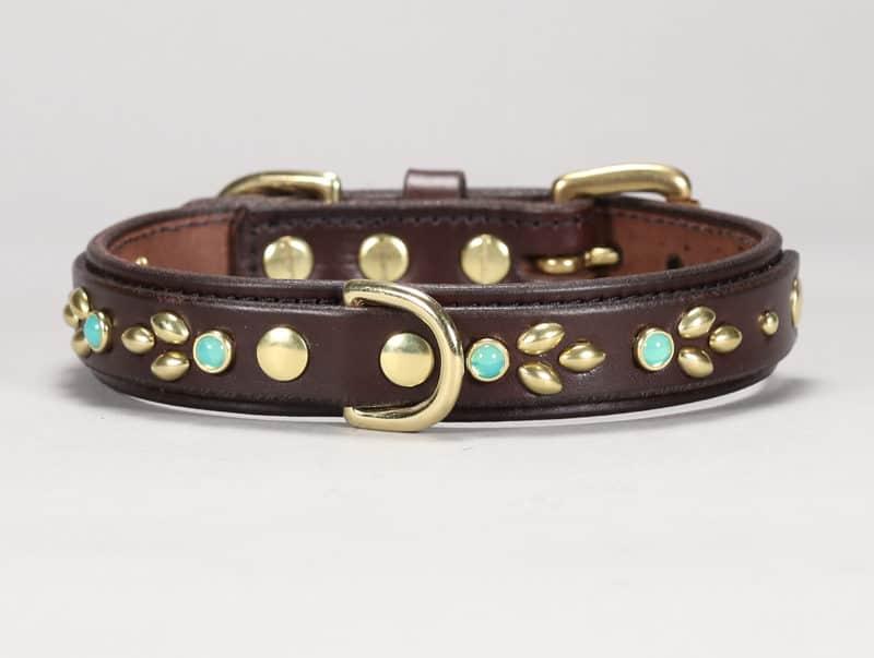 1-isabella custom leather dog collar