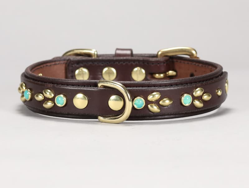 1-isabella custom leather dog collar