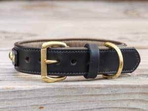 125 diego leather dog collar 090515b
