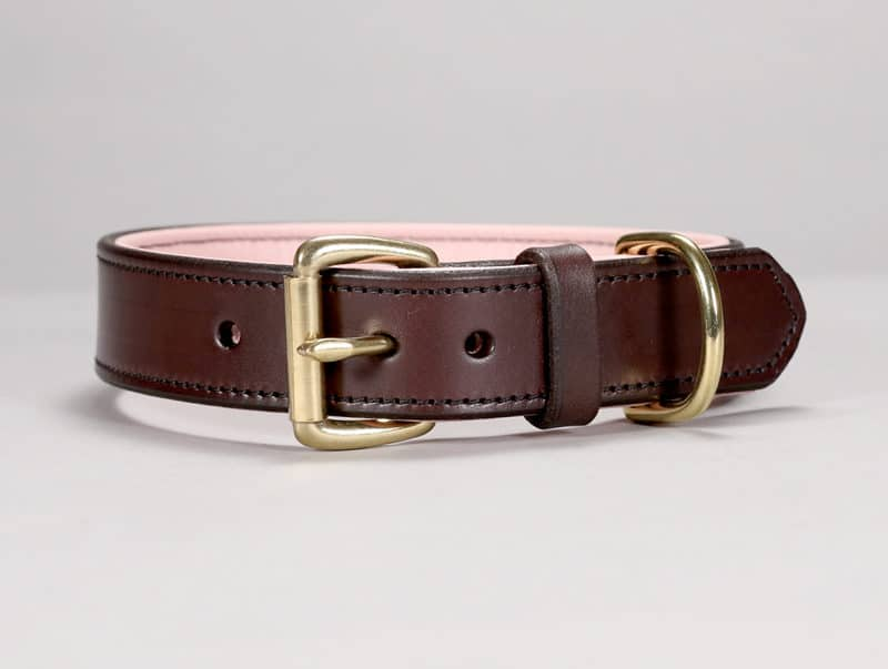 125 custom basic leather dog collar