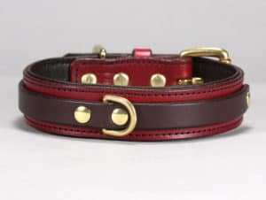 louis custom leather dog collar