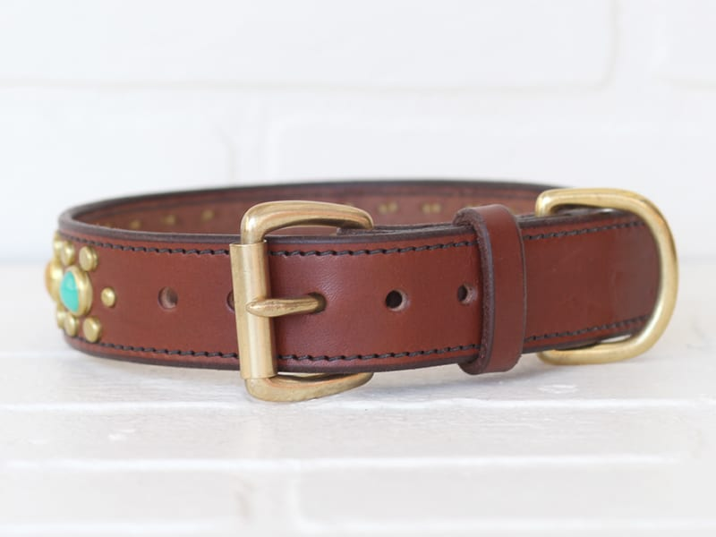 125 nash leather dog collar