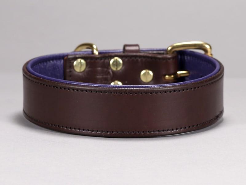 custom basic leather dog collar