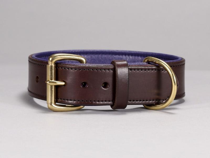 1.5″ Custom Basic Leather Dog Collar