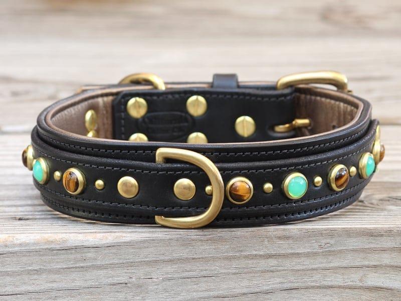 15 diego leather dog collar 090515