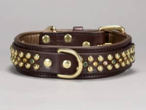 hollywood custom leather dog collar