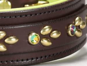 isabella custom leather dog collar