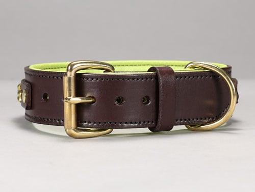 isabella leather dog collar