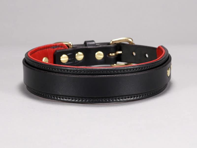 slim buckle custom leather dog collar