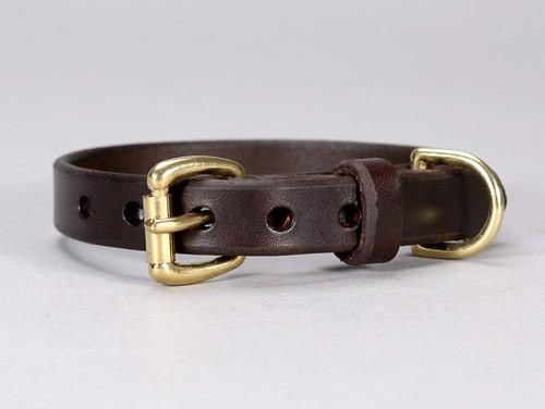 basic leather dog collar