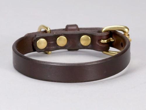 small basic leather dog collar