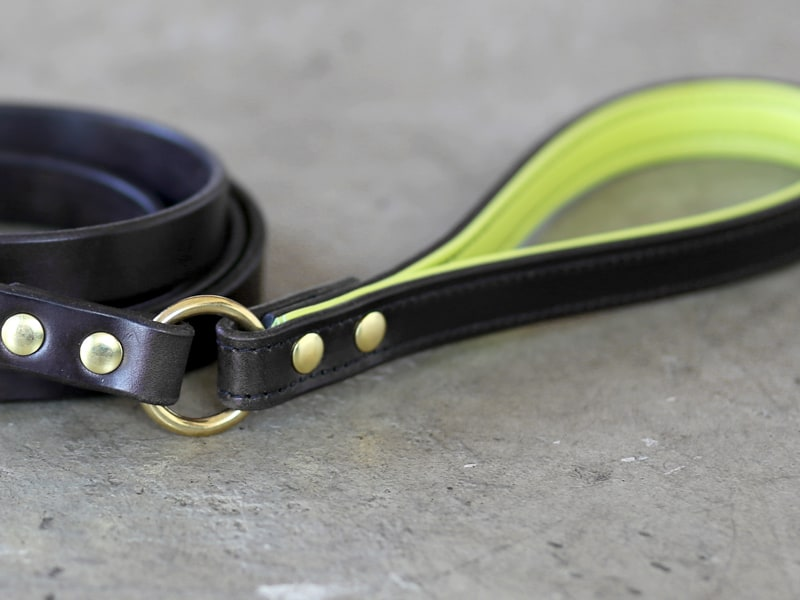 custom leather dog leash