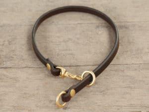 38 leather slip collar