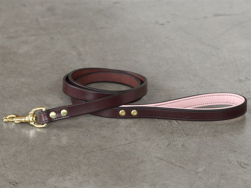 3/4″ lined leather leash