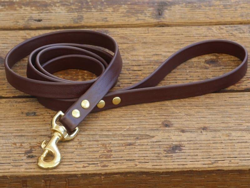 vegan basic leash dark brown 2