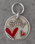 heart id tag large steel