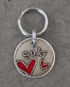 heart id tag small steel