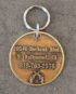 sheriff id tag large brass back