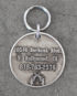 sheriff id tag large steel back