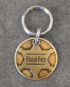 sheriff id tag small brass front